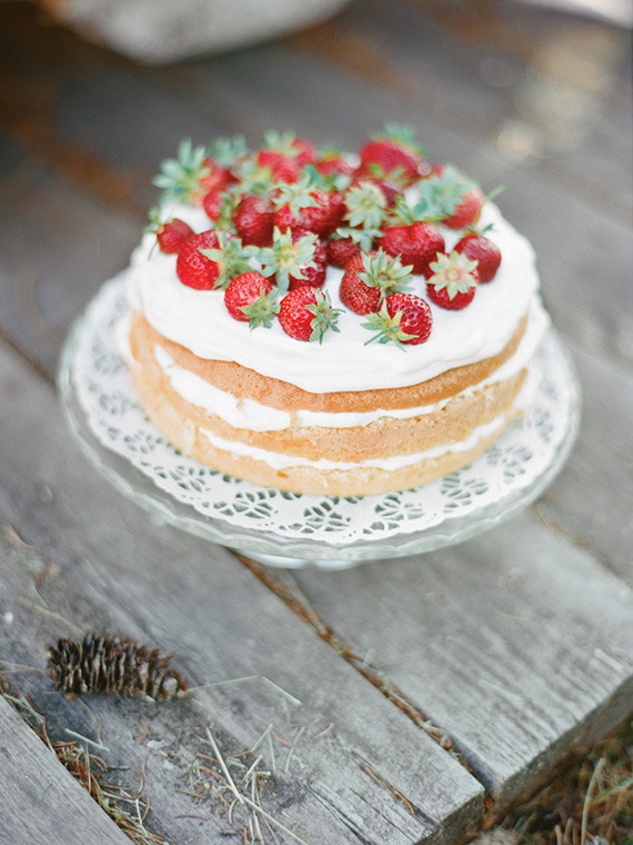 Strawberry Naked Cake