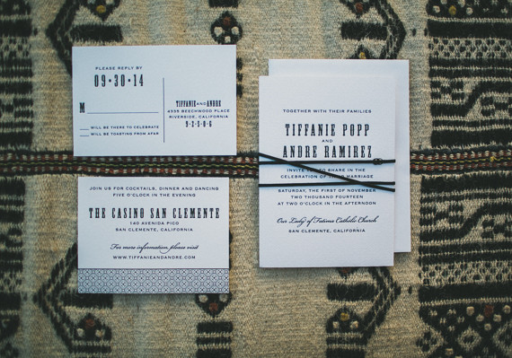 Southern California desert wedding invites