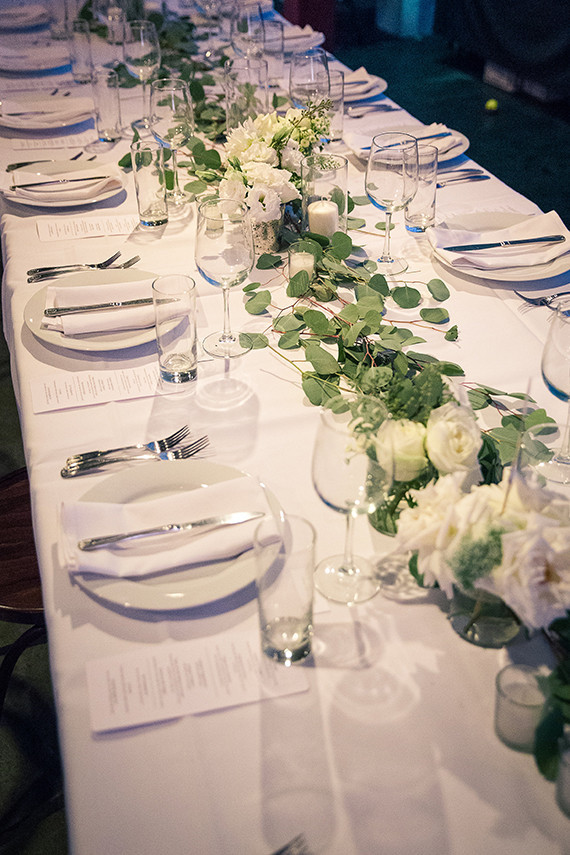 Simple white tablescape