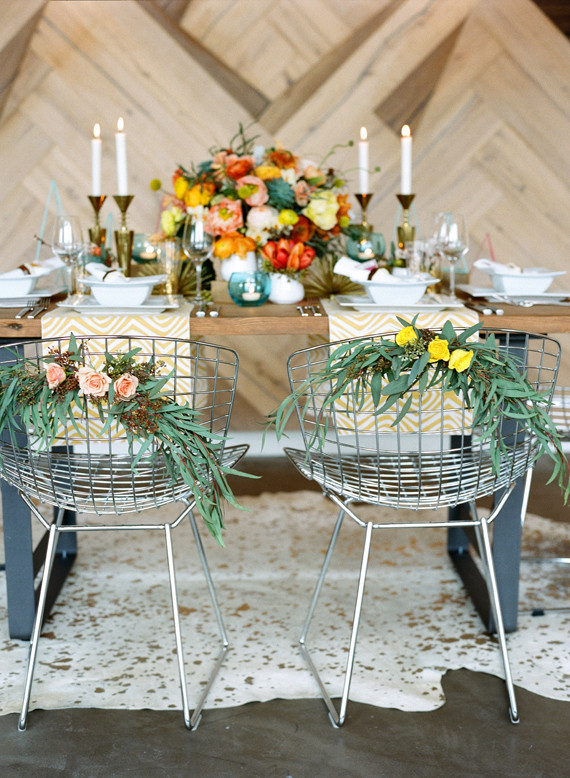 Mid-century modern wedding inspiration | Geometric wedding