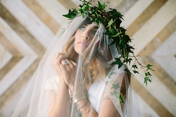 Green ivy floral crown