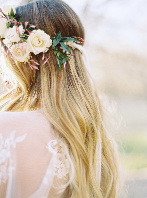Flower crown with jasmine