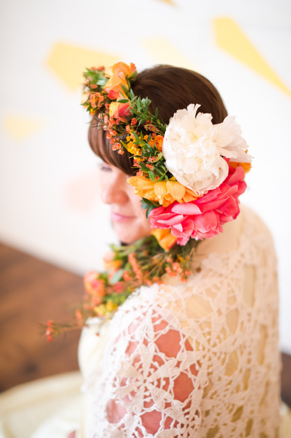 Amazing, huge floral crown