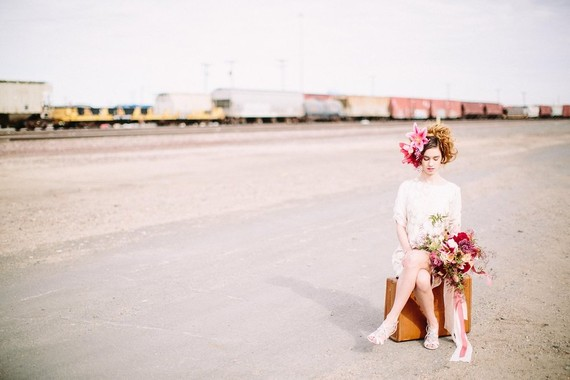 Industrial berry & marsala wedding inspiration