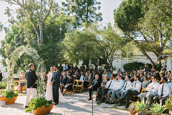 Outdoor California wedding ceremony