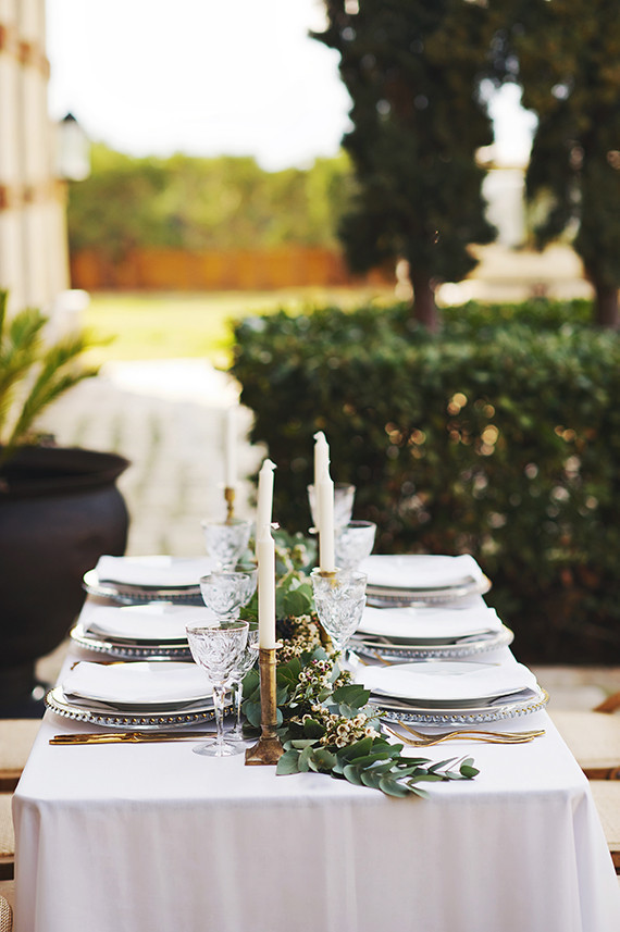 Grecian inspired tablescape