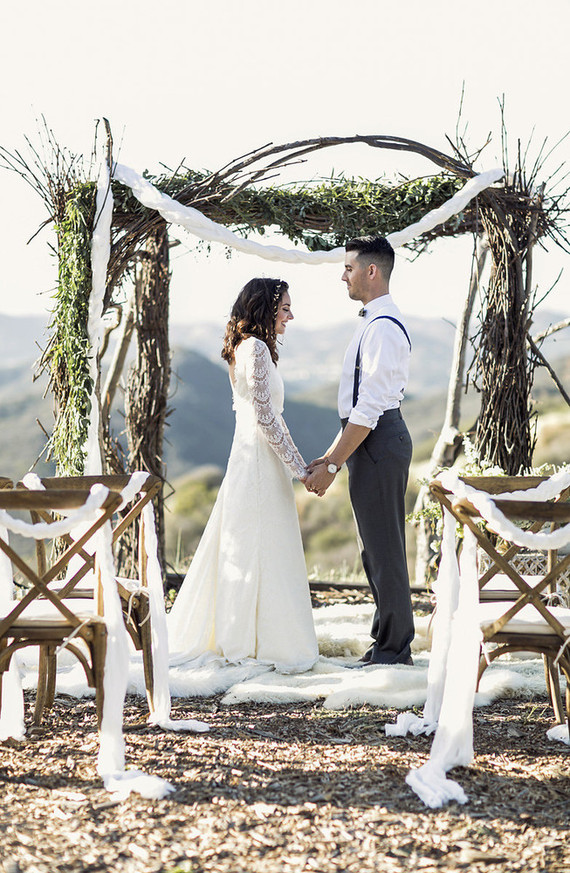Outdoor California ceremony