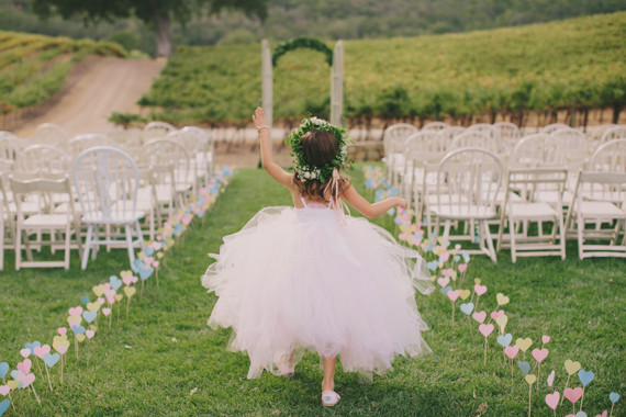 HammerSky Vineyards wedding flower girl