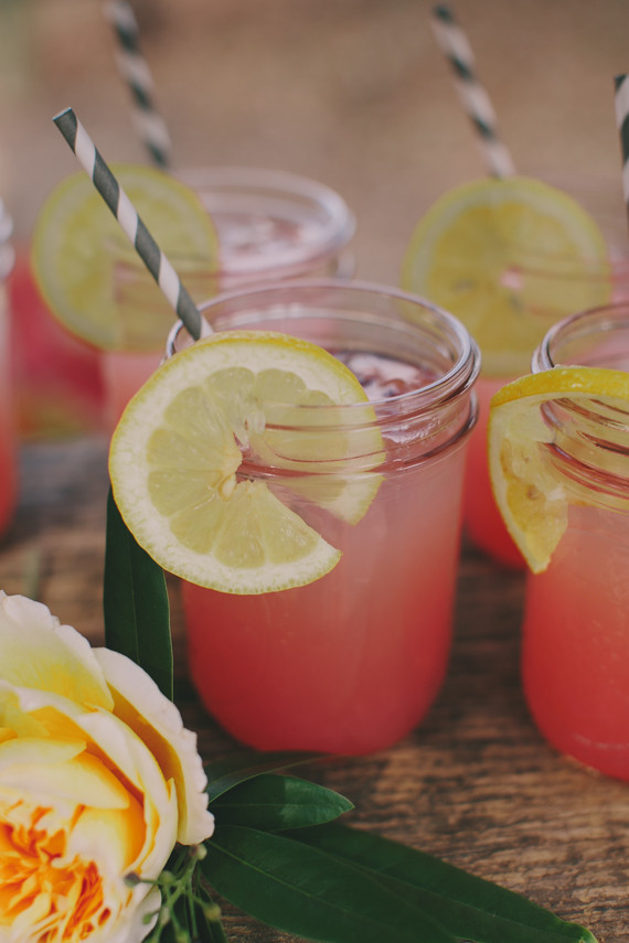 Watermelon mason jar cocktails