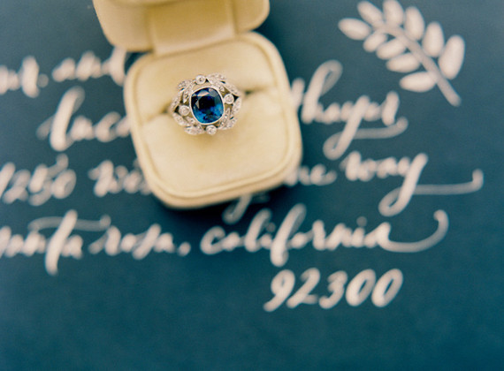 Vintage topaz wedding rings