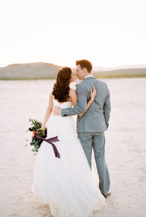 Mojave Desert wedding portrait