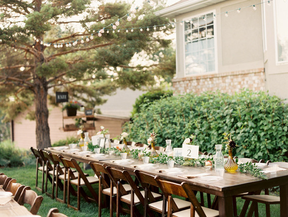 Backyard wedding tablescape