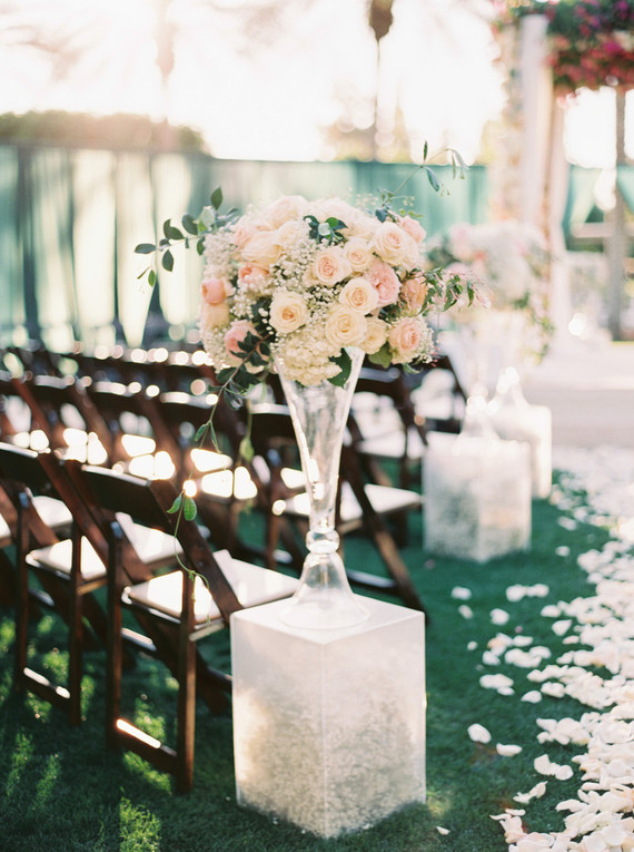 Floral ceremony decor