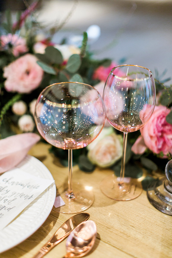 Pink glassware