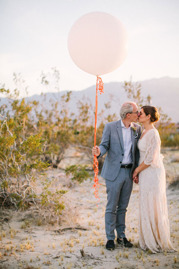 Balloon wedding portrait