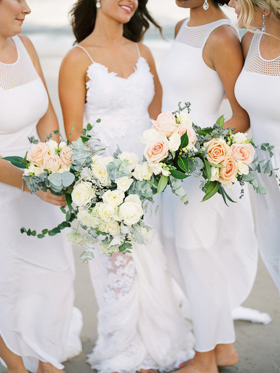 All white destination australian wedding megan aaron 100 bridesmaids bouquets junglespirit Image collections