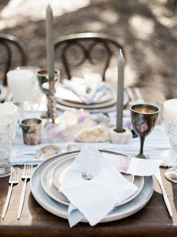 Ethereal eucalyptus table decor