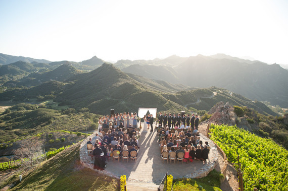 Malibu Rocky Oats wedding ceremony