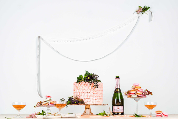 Colorful spring dessert table