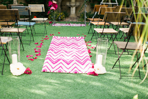 Spring wedding ceremony decor