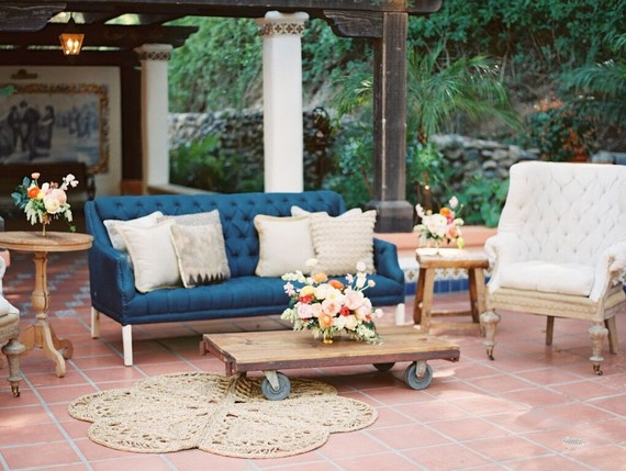 Rustic vintage wedding furniture rentals