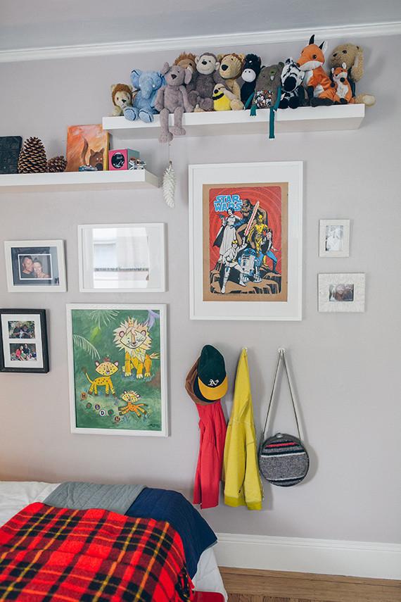 woodsy, modern boys room for holden | nursery + kids room decor