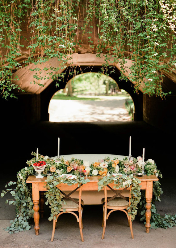 Central park wedding tablescape