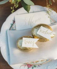 Gold rock escort cards