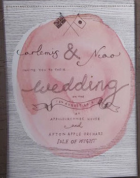 UK wedding invite