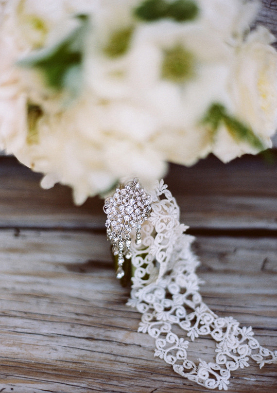 Brooch and Lace Bouquet