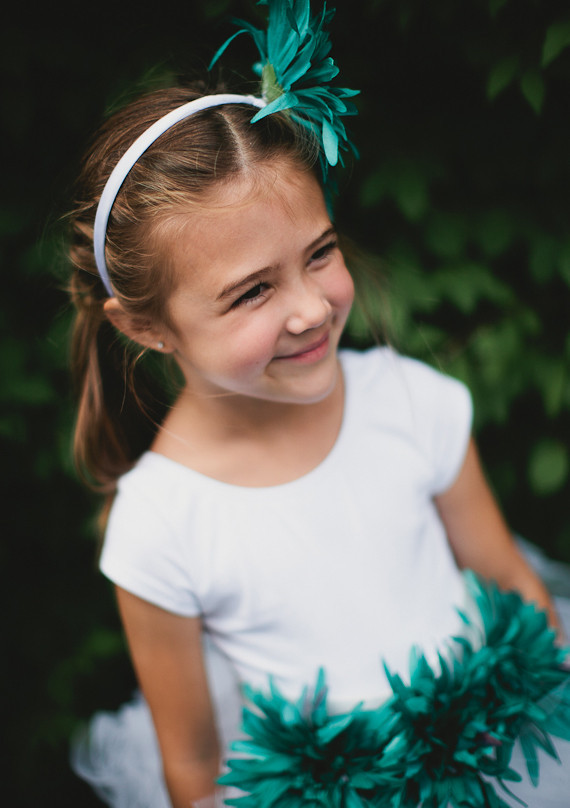 DIY teal flower girl
