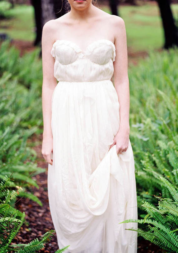 Romantic Ruffled Strapless Gown