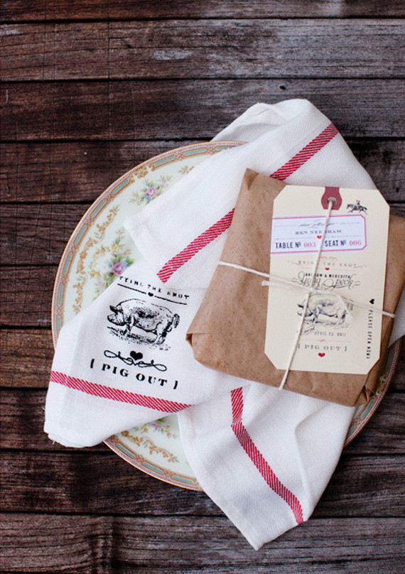 Screen Printed Tea Towel and Favors