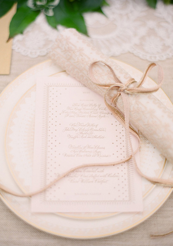 Vintage Ireland Gold and White Place Setting