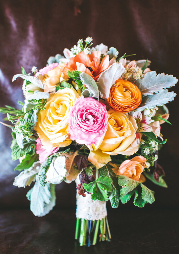 Whimsical Summer Yellow Pink Bouquet