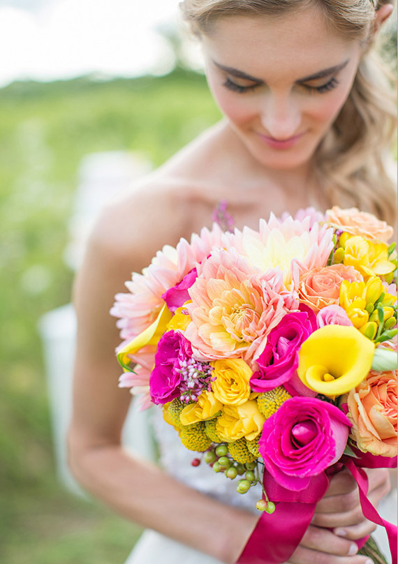 Yellow and Pink Vibrant Bouquet