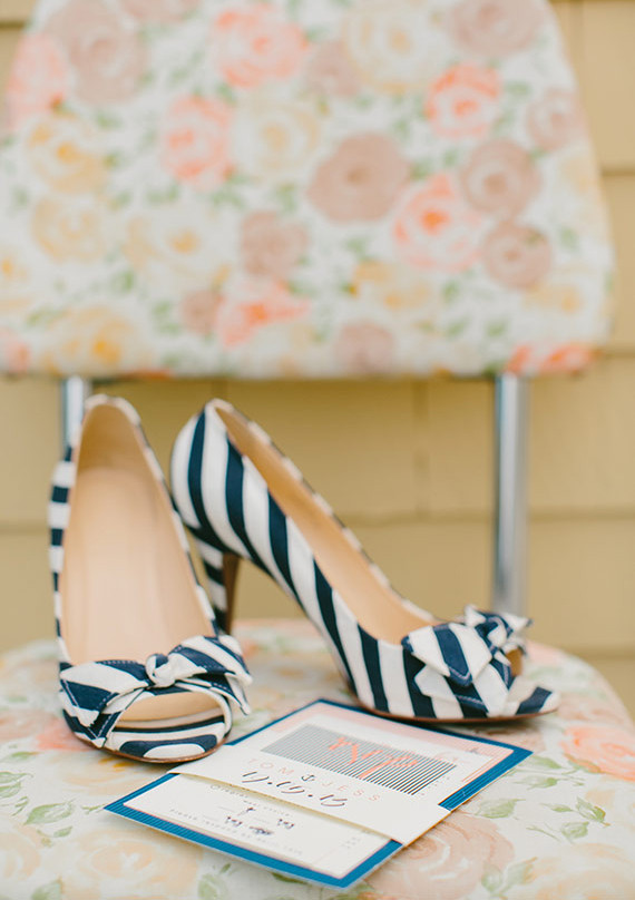 Nautical J.Crew Striped Heels