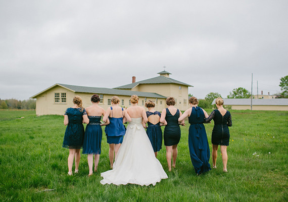 Varied Blue Bridesmaid Dress Backs