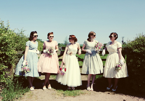 50s vintage bridesmaid dresses
