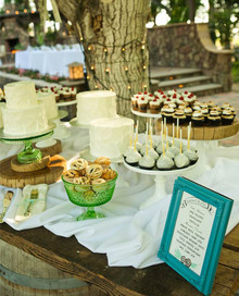 Vintage California Ranch Wedding Dessert Table