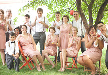 Vintage Kansas City Wedding Party