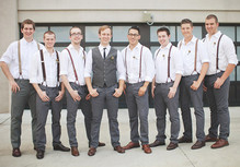 Vintage Kansas City Wedding Groomsmen