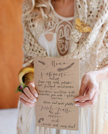 bridal brunch menu