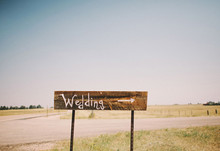 ranch wedding signage