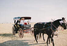 ranch wedding transportation