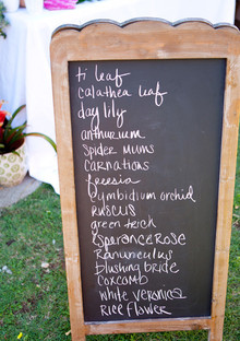 tiki bridal shower chalkboard