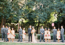 Whimsical wedding party