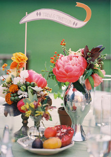 Whimsical wedding table number