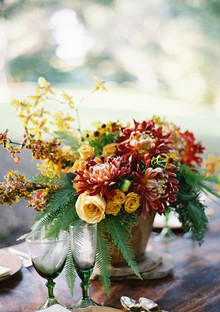 Rustic Fall flower centerpiece