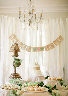Vintage Outdoor Georgia Wedding Dessert Bar